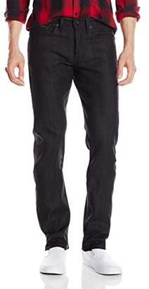 Naked & Famous Denim Men's Weird Guy Black X Grey Stretch Selvedge Jean