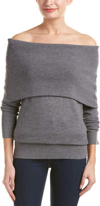 Ella Moss Off-The-Shoulder Wool-Blend Pullover