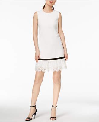 Calvin Klein Lace-Trim Sheath Dress