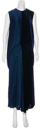 Stella McCartney Velvet-Accented Maxi Dress