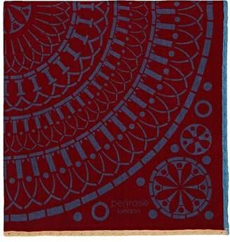 Penrose London Men's Kaleidoscopic-Print Wool-Cashmere Pocket Square