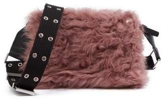 Rag & Bone Mini Compass Genuine Shearling Crossbody Bag