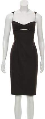 Kaufman Franco KAUFMANFRANCO Virgin Wool Knee-Length Dress