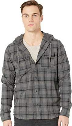 Quiksilver Men's SNAP UP Hooded Button Down Flannel Shirt