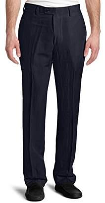 Louis Raphael Men's Modern Fit Linen Blend Flat Front Dress Pant