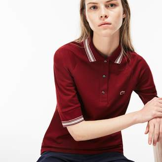Lacoste Women's Piped Pique Polo