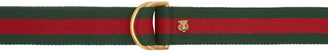 Gucci Green & Red D-Ring Belt $295 thestylecure.com