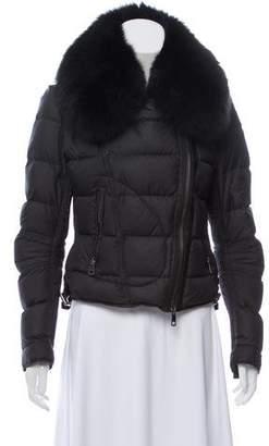 Burberry Fox Fur-Trimmed Puffer Coat