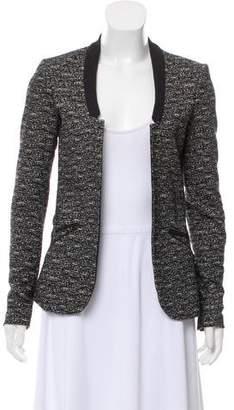 Maison Scotch Collarless Knit Jacket