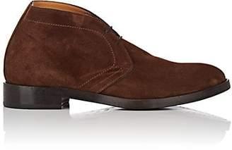 Barneys New York MEN'S SUEDE CHUKKA BOOTS - DK. BROWN SIZE 7 M
