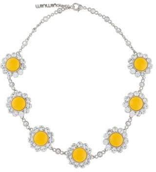 Miu Miu Crystal Floral Necklace