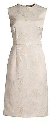 Escada Women's Dahnia Sleeveless Jacquard Sheath Dress
