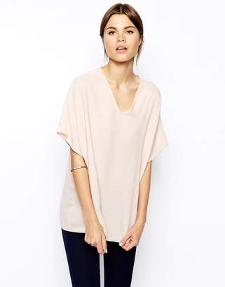 Asos Design Oversized Kimono Tunic with V Neck