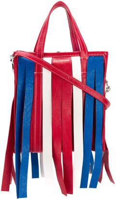 Balenciaga Bazar Fringed Multicolor Xs Shopper Bag