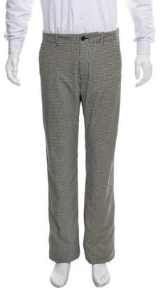 Giorgio Armani Houndstooth Flat-Front Pants w/ Tags