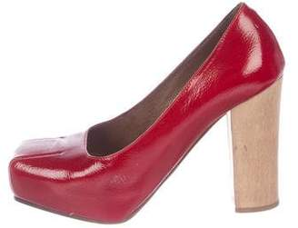 Marni Patent Leather Square-Toe Pumps