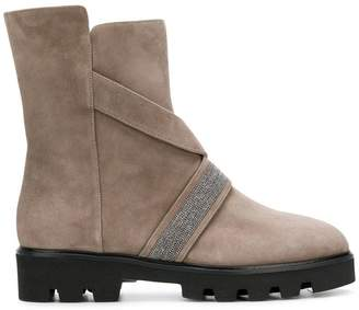 Fabiana Filippi bead embellished mid-calf boots