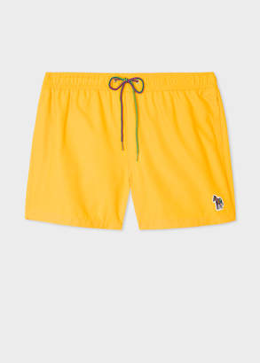 Paul Smith Men's Yellow Zebra Logo Swim Shorts