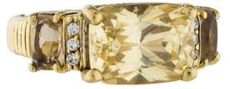 Judith Ripka 18K Diamond & Crystal Ring