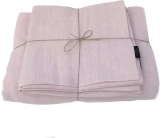 True Linen Blush Pink Linen Bedding Set