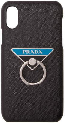 Prada (プラダ) - Prada ブラック トライアングル ロゴ iPhone X ケース