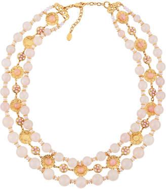 Jose & Maria Barrera Triple-Strand Collar Necklace