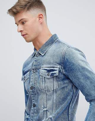 ONLY & SONS Denim Jacket In Washed Blue