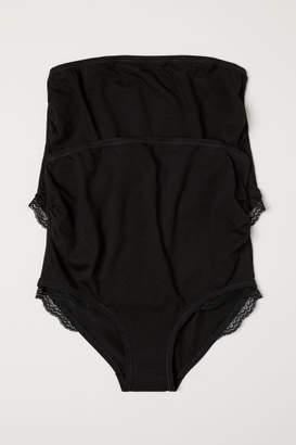 H&M MAMA 2-pack Cotton Briefs - Black