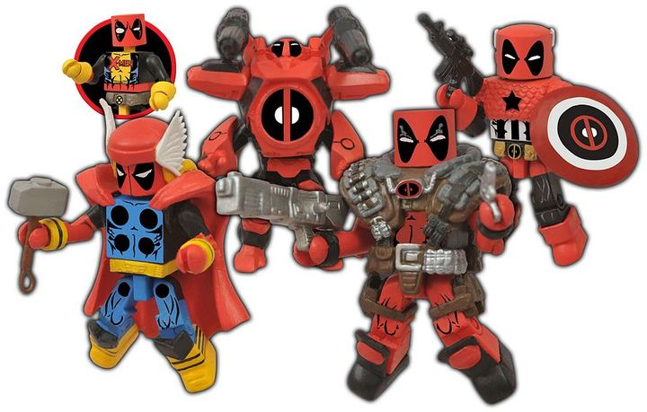 Diamond select toys Marvel Minimates Deadpool Assemble Box Set