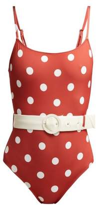 Solid & Striped The Nina Polka Dot Print Swimsuit - Womens - Red Multi