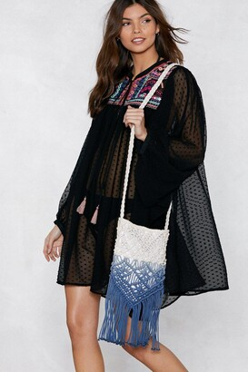 Nasty Gal WANT Under the Boardwalk Fringe Crossbody Bag