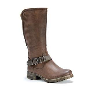 Muk Luks Women's Santina Boots Wheeled Heel Shoe
