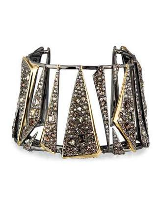 Alexis Bittar Two-Tone Crystal Cuff Bracelet $495 thestylecure.com