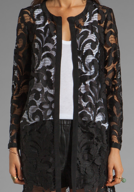 Milly Magnolia Lace Coat
