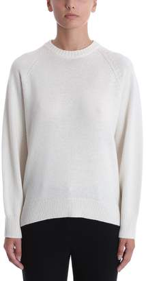Theory Ivory Cashmere Crewneck Sweater