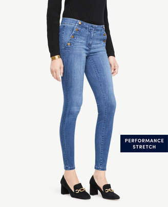 Ann Taylor Petite Sailor All Day Skinny Jeans In Ultramarine Wash