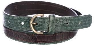 Max Mara 'S Embossed Buckle Belt