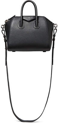 Givenchy - Antigona Mini Textured-leather Shoulder Bag - Black $1,750 thestylecure.com