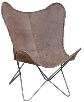 Attrayant At Temple And Webster Brown Leather Butterfly Chair