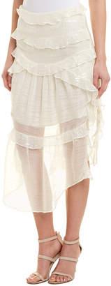 IRO Ruffle Midi Skirt