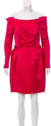 Lanvin Off-The-Shoulder Silk Dress