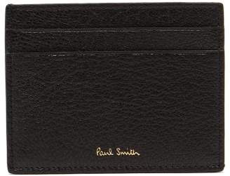 Paul Smith Two Tone Leather Cardholder - Mens - Black Multi