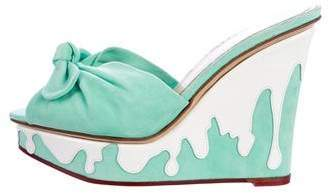 Charlotte Olympia Jayne Sundae Wedge Sandals
