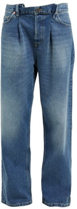 Raey Fold Dad Baggy Boyfriend Jeans - Womens - Dark Blue