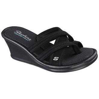 Skechers Womens Young At Heart Wedge Sandals