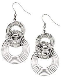 Steel by Design Stainless Steel Multi-Circle Dangle Earrings