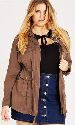 City Chic Dark Caramel Adventure Jacket
