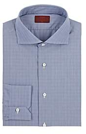 Isaia Men's Plaid Cotton Poplin Shirt - Dk. Blue