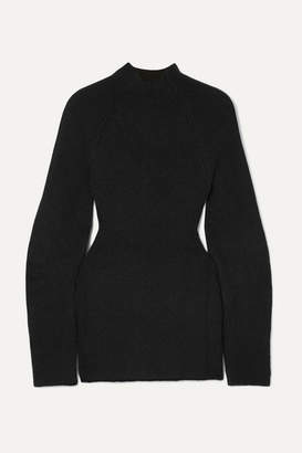 Chloé Cutout Ribbed-knit Sweater - Black