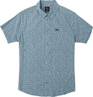 RVCA Men's PIN and Needles Short Sleeve Woven Shirt